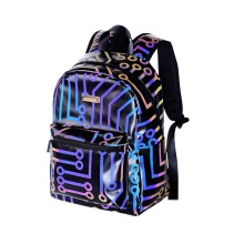 Small Casual Daypack High Visibility Reflective Backpack Bag for Ladies Women