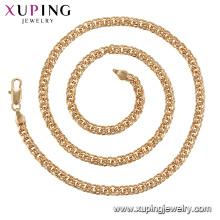 44801 xuping couleur or 24 carats collier avec chaîne en plaqué or pour femme