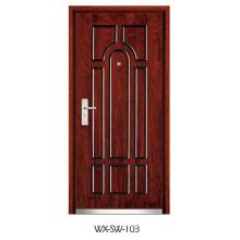 Porte en acier en bois (WX-SW-103)