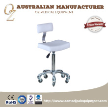 Beauty portable salon stool Customized Stool Chair Saddle Stool With Backrest