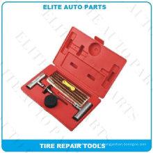 Kits de reparação de pneus na caixa vermelha