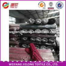 En stock 100% algodón 20 * 10/40 * 40 hilo de algodón teñido en tela de franela stockmade en China stock lote barato tela de franela a granel