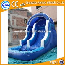 China pequena corrediça de água inflável indoor, slide de neve inflável, kids inflável slide