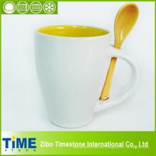 Taza de café de cerámica con cuchara (CS-001)