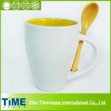 Ceramic Coffee Cup with Spoon (CS-001)