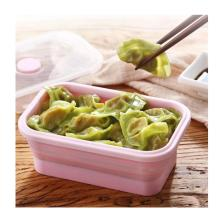 For Student Foldable Take Out Lunch Box Silicone Food Container