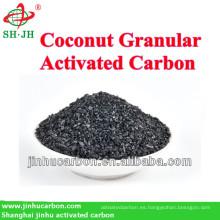 Carbón activado granular de cáscara de coco