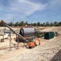Continuous working waste drying equipment with pyrolysis