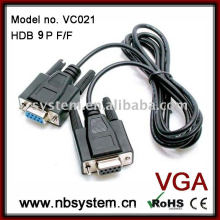 DB 9 broches vga câble F / F