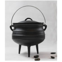 Cast Iron Preseasoned Finished Potjie with Three Legs