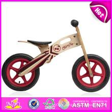 2014 nouveau et populaire enfant en bois vélo jouets jouets en bois, dernier moderne en bois enfant vélo, vente chaude équilibre en bois enfant vélo W16c083