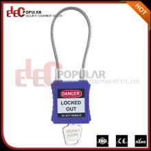 Alta seguridad barato cable de acero candado con llave maestra