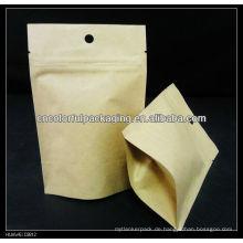kraftpapier kaffee tasche mit ventil / mit zweiwege entgasungsventil kaffee verpackungsbeutel