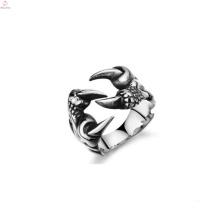 Joyería caliente del anillo de la pata de la venta, anillo de acero inoxidable por encargo