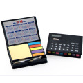 Desk Note Pad with Dual Power Calculator