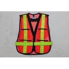 Leading for Mesh Polyester High Reflective Garment high visibility reflective safety mesh serious vest export to Nauru Manufacturer