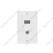 Leviton Decrostyle HDMI/Fplug AV Wall Plate Panel 115*70mm