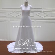 стильный и довольно тонкий-линии свадебное платье alibaba оптовых светлая слоновая кость пользовательских свадебные платья