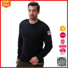 2017 neue Design gestrickt Armee Wolle Pullover einheitlichen militärischen Pullover