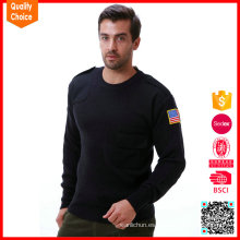 2017 nuevo diseño hecho punto suéter militar de las lanas del ejército suéter militar