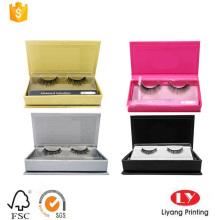Rigid eyelash cardboard box with tray