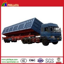 The Cargo Hydraulic Side Dump Tipping Truck Semi Trailer Tipper