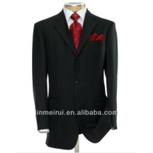 Alibaba Made In China Executive 2-Button Wool Suit with Center Vent and Plain Front Trousers Formal Men's Suit MS001