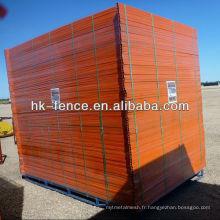Panneaux provisoires enduits de barrière de PVC de couleur orange de 6 pi x 10 pi pour la sécurité des sites de construction