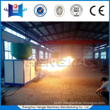 Biomass direct fired burner used in industrial furnace for heating and drying