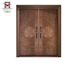 Puerta de seguridad personalizada diseño de la puerta principal a prueba de balas de acero de seguridad