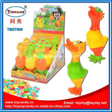 Plástico Páscoa Chick Duck Toy com Candy
