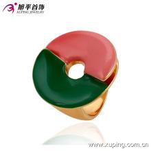13703 Hot vente nouveau design dames bijoux grand cercle en forme de bague de doigt de couleur rose et vert