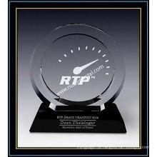 """Placas Cristal Award / Circle Award 7.4 """"H (NU-CW731)"""