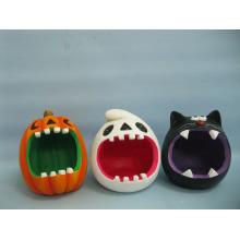 Calabaza de Halloween Arte y Artesanía de Cerámica (LOE2373-13)