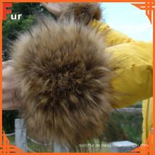 Kleidungszubehör Raccoon Fur Cuff