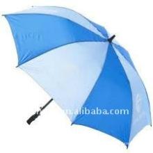 blue and white umbrella