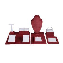 Exposição de carrinho de exposição de jóias de linho por atacado (WST-LW3)