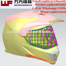 Zhejiang taizhou full face motorcycle safety helmet mold for Plastic Injection Motorcycle Helmet Visor Mould