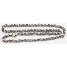 Hot Sale Stainless Steel Dia 5mm Thick Twist Chain with Lobster Closure