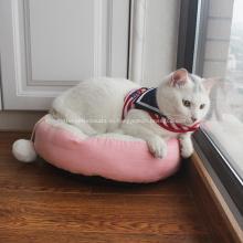 Мягкая плюшевая овальная кровать для собак и кошек