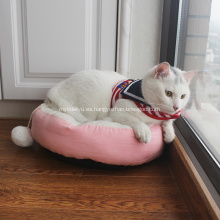 Oval Dimple Soft Plush Pet Cat Cama para perros
