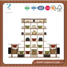 Présentoirs en bois pour des ventes au détail ou des maisons