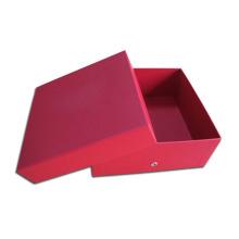 Rote Packpapier-Kasten-Frauen-Schuh-Verpackung