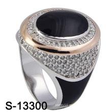 Anillo caliente-vendedor del hombre del esmalte de la joyería de la plata esterlina 925.