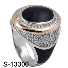 Hot-Selling 925 prata esterlina jóias esmalte homem anel.