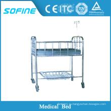 SF-DJ125 Нержавеющая сталь Детская кроватка для бампера для больницы