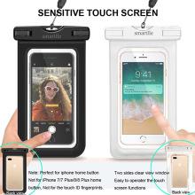 Прозрачный плавательный цвет: черный, белый, синий, зеленый, розовый Тип: водонепроницаемый чехол для мобильного телефона MOQ: 100 шт. Функция: водонепроницаемый 30M Па