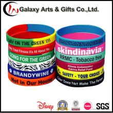 Bandas de silicona serigrafiadas de goma de moda promocional personalizado