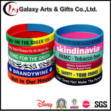 Custom Promotional Fashion Rubber Screenprinted Silicone Bands