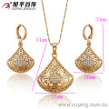 62929-Xuping Fine Jewelry Woman Jewelry Set with 18K Gold Plated